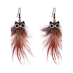Earring Non Stone Drop Earrings Jewelry Women Halloween / Wedding / Casual Alloy / Feather 1 pair As Per Picture