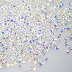 120pcs schijnen flatback / achthoekige vorm nail art decoraties glitter strass 3d helder kristal SS3 ab diamant