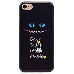 Kitten Pattern Black TPU Material Soft Phone Case for iPhone 7 Plus 7 6S 6Plus 5 SE