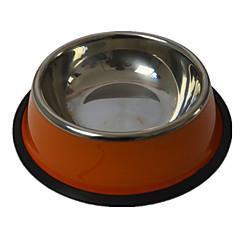 Cane Mangiatoie Animali domestici Ciotole e alimentazione Ompermeabile / Casual Colore casuale Plastica / Acciaio Inox