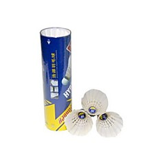 6 Badminton Feather Shuttlecocks Shuttlecocks High Elasticity Durable for Indoor Outdoor Performance Practise Leisure Sports Duck Feather