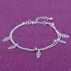 Γυναικεία Βραχιόλι αστραγάλου/Βραχιόλια Επάργυρο Μοντέρνα Leaf Shape Κοσμήματα Για Καθημερινά Causal