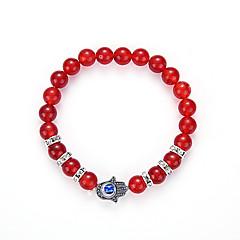 The New Beads Bracelet The Hand Of The Natural Onyx Fatima Eyes Beaded Bracelet