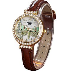 Women's Fashion Watch Wrist watch / Quartz Leather Band Casual Cool Black White Red Brown Pink