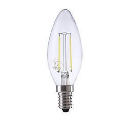 2W E14 Lampadine LED a incandescenza B 2 COB 250 lm Bianco caldo / Luce fredda AC 220-240 V 1 pezzo