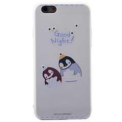 For iPhone 6S 6plus Case Cover Penguin Pattern Diamond Relief TPU  Acrylic Material Phone Case