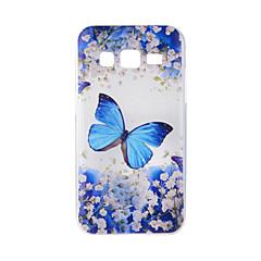 Voor samsung galaxy j7 j5 hoesje hoesje blauw vlinder geschilderd patroon tpu materiaal telefoon hoesje