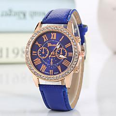 Damskie Modny Zegarek na nadgarstek Kwarcowy Kryształ górski sztuczna Diament PU Pasmo Błyszczące Z Wisorkami Na co dzieńCzarny Biały