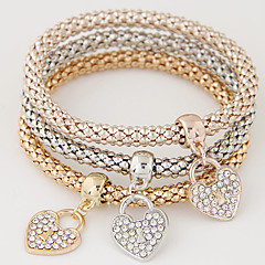 Damskie Bransoletki z breloczkami Miłość luksusowa biżuteria Europejski biżuteria kostiumowa minimalistyczny styl Modny Wielowarstwowy