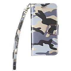 Voor Kaarthouder / met standaard / Flip hoesje Volledige behuizing hoesje Camouflage Kleur Hard PU-leer voor AppleiPhone 7 Plus / iPhone