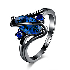 Ring Crystal AAA Cubic Zirconia Steel Purple Green Blue Jewelry Party Halloween Daily 1pc