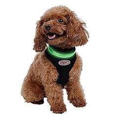Katte / Hunde SelerReflekterende / LED Lys / Justérbar/Udtrækkelig / Åndbart / Elektronisk/Elektrisk / Sikkerhed / Pailletter / Blød /