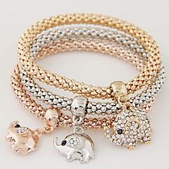 Naisten Amuletti-rannekorut minimalistisesta Muoti söpö tyyli Monitaso ylellisyyttä koruja EurooppalainenTekojalokivi jäljitelmä Diamond