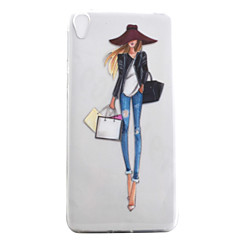 For Xperia E5 XA XZ Case Cover Fashion Girl Pattern High Permeability Painting TPU Material Phone Case