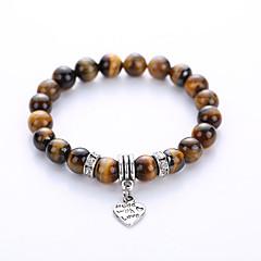 Ανδρικά Γυναικεία Βραχιόλια Strand Γιόγκα βραχιόλι Κοσμήματα Κεχριμπάρι Τυρκουάζ Κοσμήματα Για Πάρτι Γενέθλια Causal