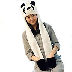 KIGURUMI Yöpuvut Panda Hat Festivaali/loma Animal Sleepwear Halloween Patchwork Tekoturkki Hatut varten UnisexHalloween Karnevaali Uusi