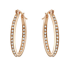 Earring AAA Cubic Zirconia Hoop Earrings Jewelry Women Wedding / Party / Daily Gold Plated 1 pair Gold / Silver