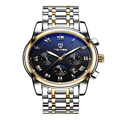 Tevise Men's Women's Couple's Sport Watch Skeleton Watch Fashion Watch Mechanical Watch Calendar Water Resistant / Water Proof Luminous