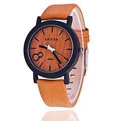 Women's Fashion Watch Wrist watch Quartz PU Band Vintage Casual Black Orange Brown Grey Yellow Khaki Beige Gray Coffee Brown Khaki
