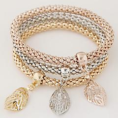 Dam Berlock Armband Minimalistisk Stil Mode Multi lager Europeisk Bergkristall Legering Regnbåge Smycken För Dagligen 1set