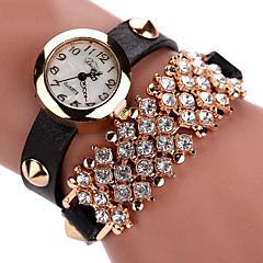 Women's Fashion Watch Wrist watch Bracelet Watch Luminous Punk Colorful Quartz PU Band Vintage Sparkle Bohemian Charm Bangle Cool Casual