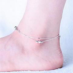 Kadın Ayak bileziği/Bilezikler Som Gümüş Moda Kişiselleştirilmiş Mücevher Uyumluluk Düğün