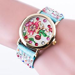 Women's Fashion Watch Bracelet Watch / Quartz Leather Band Casual Black White Red Brown Pink Yellow Khaki Navy Rose