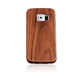 Varten Other Etui Takakuori Etui Yksivärinen Kova Puu varten Samsung S7 / S6 edge / S6 / S5 / S4