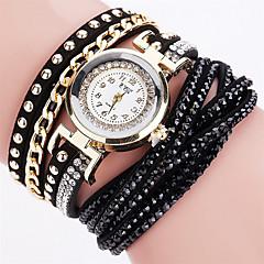 Women's Fashion Watch Wrist watch Bracelet Watch Colorful Quartz PU Band Vintage Sparkle Candy color Bohemian Charm Bangle Cool Casual Strap Watch