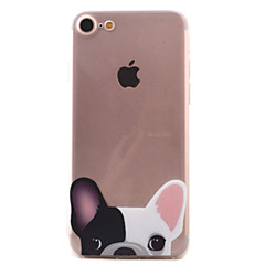 For iPhone 7 7 Plus 6S 6 Plus SE 5S Case Cover Puppy Pattern High PermeabilityThickening Painting Relief TPU Material