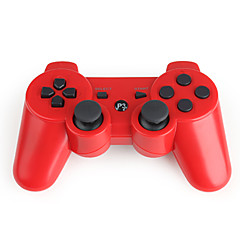 Trådløs DualShock 3 Controller for PlayStation 360 PS3 (rød)