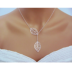 Women's Pendant Necklaces Chain Necklaces Leaf Sterling Silver Adjustable Classic Elegant Carved Fashion Jewelry For Wedding Party Daily Casual 1pc