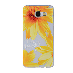 For Mønster Etui Bagcover Etui Blomst Blødt TPU for Samsung A8(2016) / A5(2016) / A3(2016) / A8 / A7 / A5 / A3