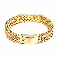 Heren Armbanden met ketting en sluiting Kostuum juwelen Roestvast staal Verguld Sieraden Voor Feest Dagelijks Causaal