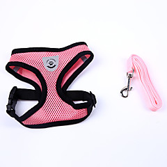 Dog Harness Adjustable/Retractable / Handmade / Soft Solid Red / Black / Blue / Pink Nylon