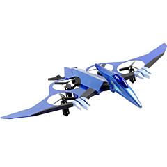 Drone JDTOYS 511V 4 Canaux 6 Axes 2.4G Avec Caméra Quadrirotor RC Eclairage LED Avec Caméra Quadrirotor RC Télécommande Argent Bleu