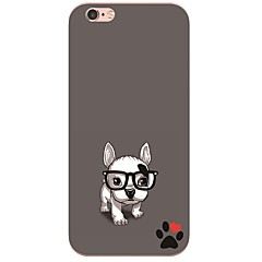 iPhone 7 7Plus Cartoon Dog Pattern TPU Ultra-thin Soft Back Cover for iPhone 6s 6 Plus 5s 5 5E