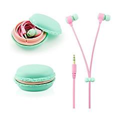 Super Bass Colors 3.5mm In-Ear Cute Macaron Bread Storage Bag Earphones For Samsung Htc Huawei
