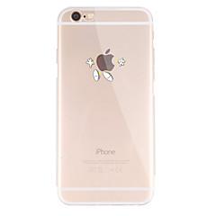 Til Etui iPhone 7 Etui iPhone 6 Etui iPhone 5 Mønster Etui Bakdeksel Etui Spill med Apple-logo Myk TPU til AppleiPhone 7 Plus iPhone 7