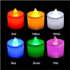 3W LED-stearinlyspærer T 1 DIP LED 300 lm Rød Blå Gul Grøn Lyserød Dekorativ Vekselstrøm 85-265 V 24 stk
