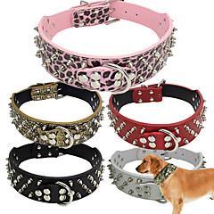 honden Kraag Verstelbaar/Uitschuifbaar / Met studs / Vrijetijdsschoenen Effen Rood / Zwart / Wit / Groen / Bruin / Roze / Grijs / GoudPU