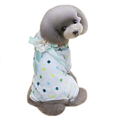 Perros Abrigos Saco y Capucha Mono Ropa para Perro Invierno Lunares Adorable Mantiene abrigado Beige Azul