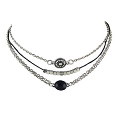 Halsband Icke sten Choker-Halsband Smycken Party / Dagligen / Casual Enkel design Legering Dam 1set Present Silver