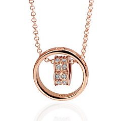 Necklace Jewelry Daily / Casual Circle / Fashion Gold Women 1pc Gift Yellow Gold