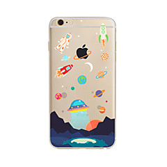 Mert Áttetsző / Minta Case Hátlap Case Rajzfilmfigura Puha TPU mert AppleiPhone 7 Plus / iPhone 7 / iPhone 6s Plus/6 Plus / iPhone 6s/6 /