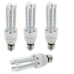 7W E26/E27 LED-kolbepærer T 36 SMD 2835 600 lm Varm hvid / Kold hvid Dekorativ V 4 stk.