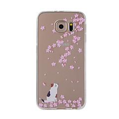 Voor Samsung Galaxy Note 5 Note 4 case cover kersen kat beschilderd patroon tpu materiaal telefoon hoesje