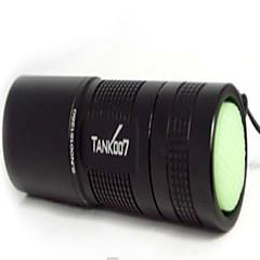 Tank007® LED taskulamput / Mustavalotaskulamput / Käsivalaisimet LED 180 Lumenia 1 Tila - AAVedenkestävä / ladattava / Lipsumaton