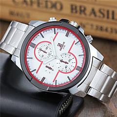 Men's Sport Watch Dress Watch Fashion Watch Wrist watch Quartz Stainless Steel Band Casual White