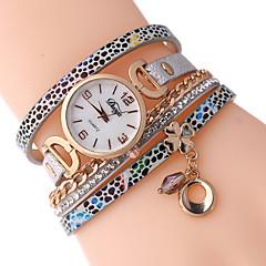 Women's Bracelet Watch Simulated Diamond Watch Quartz PU Band Black White Blue Red Brown Grey
